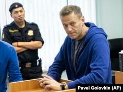 Алексей Навальный в Симоновском суде Москвы. 24 июля 2019 года