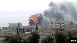 Сирия-Түркия чек арасындагы Кобани шаары, 3-октябрь 2014-жыл