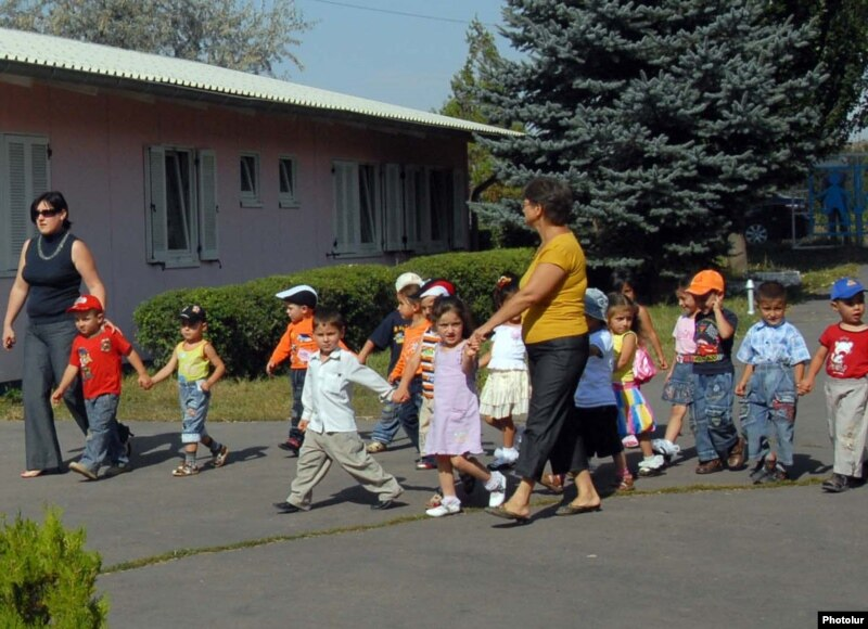 Armenian children in an orphanage