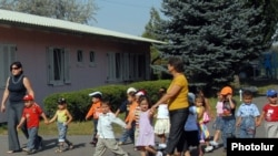 Children at an Armenian orphanage. Currently, only 24 children have been placed with local foster parents.