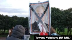 Акция в поддержку Алексея Навального в Санкт-Петербурге
