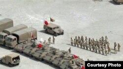 حضور نیروهای نظامی در خیابان های منامه در زمان اعتراض ها در بحرین