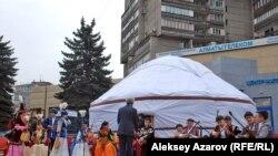 «Киіз үй мерекесі» фестивалі. Алматы, 4 сәуір 2015 жыл.