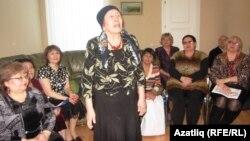 Редакция әгъзасы Нурия Ханым Кучукова сөйли