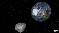 Астероид 2012 DA14 приближается к нашей планете. Изображение NASA.