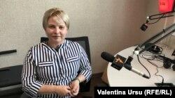 Violeta Vitu în studioul Europei Libere