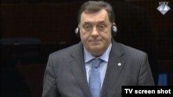 Milorad Dodik na suđenju Ratku Mladiću, 2015.
