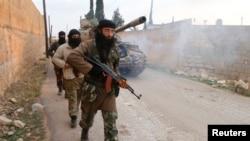 Бойовики радикального ісламістського угруповання «Фронт ан-Нусра» у Сирії, 26 листопада 20114, Алеппо
