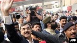 یوسف رضا گیلانی از سوی حزب مردم پاکستان به عنوان نخست وزیر معرفی شد. عکس ازafp عکس .