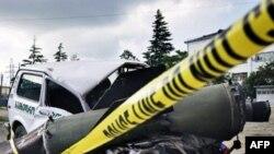 Ruska raketa koja je pala na gruzijsko vojno vozilo u Potiju, 11. avgust 2008.