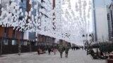 С Новым годом поздравляют гости чеченской столицы