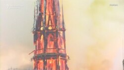 Parižiň Notre Dame baş ybadathanasyny ot aldy