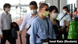 Kristina Țimanovskaia a părăsit Japonia de la Aeroportul Narita, aflat la est de Tokyo.