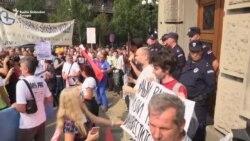 Protest radnika 'Goše': Treba i naša deca da žive