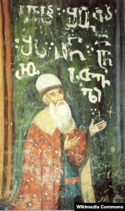 Изображение Шота Руставели на древней фреске. Иерусалим