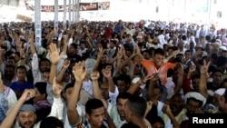 Демонстрация в городе Аден на юге Йемена