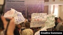 На публичных слушаниях по Охта-Центру, 1 сентября 2009