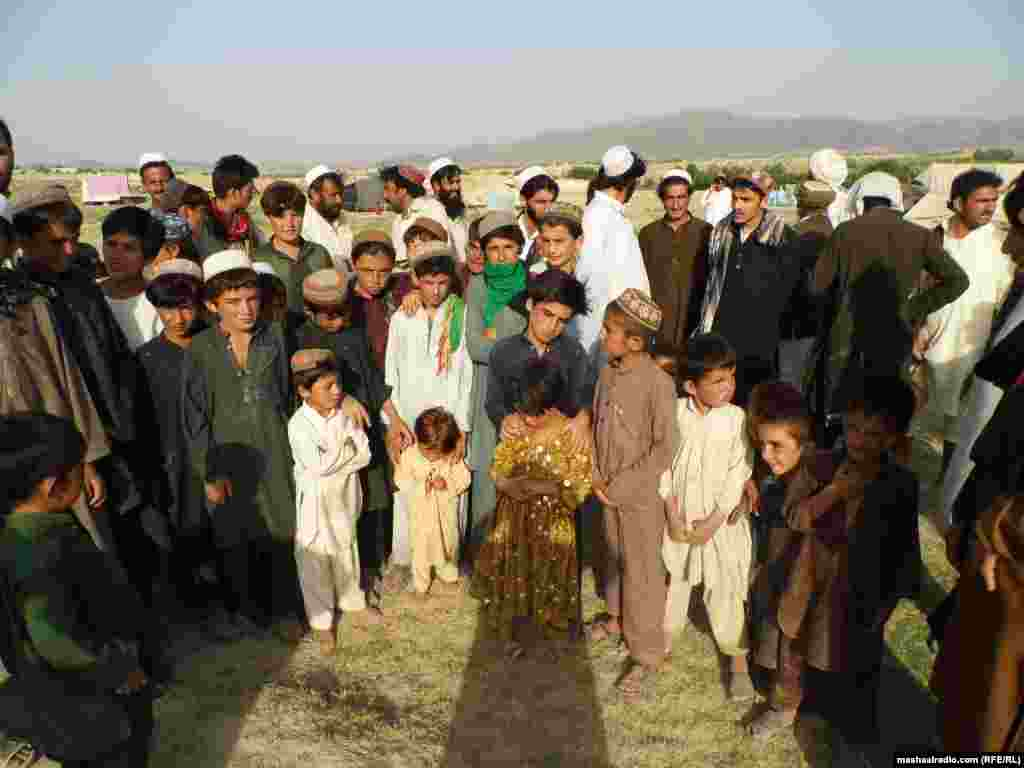 There are many children among the refugees in Afghanistan who have fled the fighting in North Waziristan.