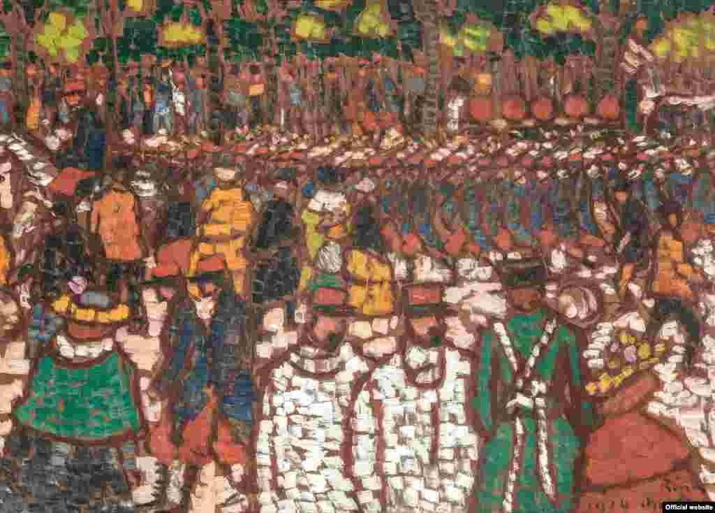 József Rippl-Rónai Soldați francezi mărșăluind, 1914 bpk / RMN - Grand Palais / Patrice Schmidt