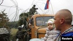 Një nga bllokadat në veri të Kosovës...
