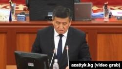 Sooronbay Jeenbekov - parliament - Kyrgyzstan