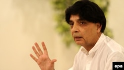 د پاکستان کورنیو چارو وزیر چودري نثار علي خان