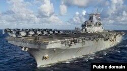 File photo - USS Boxer amphibious assault ship.