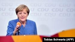 Germaniýanyň kansleri Angela Merkel, Berlin, 24-nji sentýabr, 2017