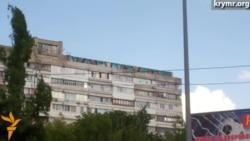У Сімферополі з'явилося величезне графіті «Разом проти рашизму»