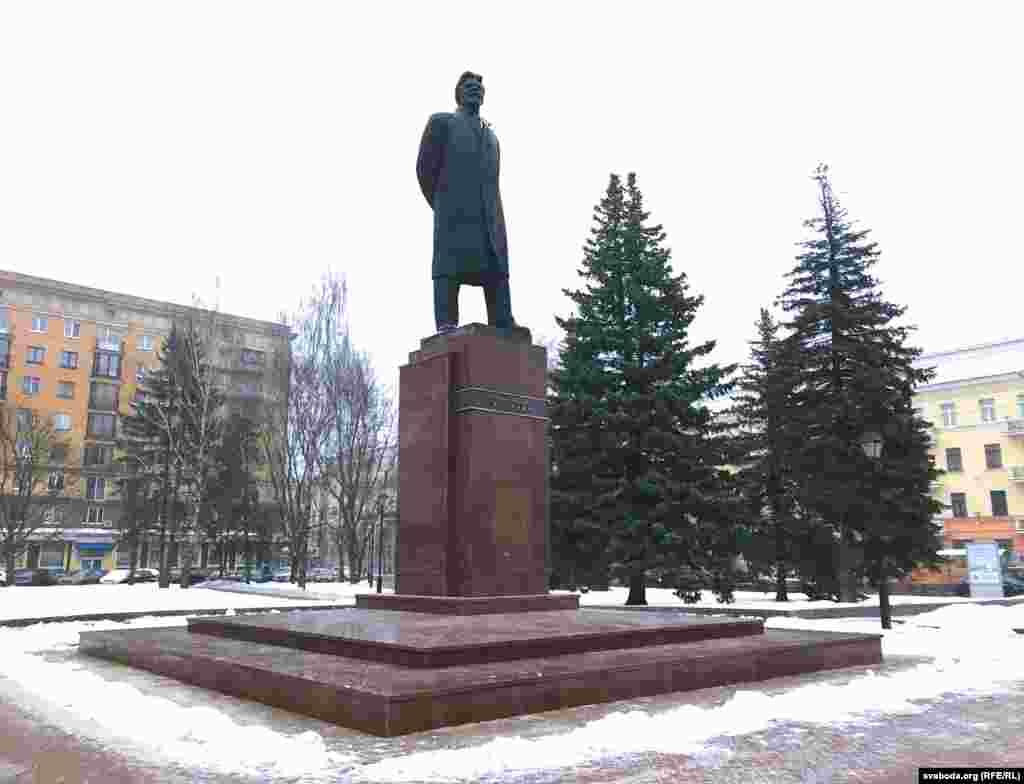 Belarus — Kalinin square in Minsk with the monument for soviet politician Mikhail Kalinin, 30jan2019