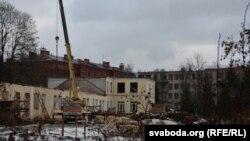 Будаўніцтва кадэцкай вучэльні ля Сафійскага сабору ў Полацку