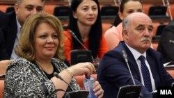 Катица Јанева и Марко Зврлевски на отчет во Собранието за извештаите на СЈО и ОЈО, Скопје, 21.09.2016