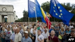 Демонстрация в Кишиневе, 6 сентября 2015 года.