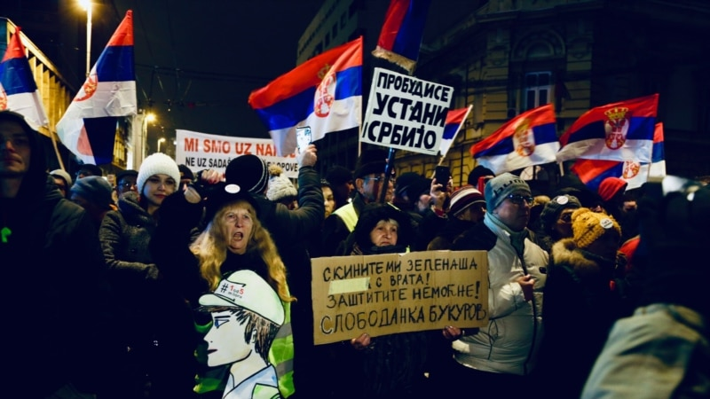 Thousands Rally In Serbia Against Vucic For Sixth Week