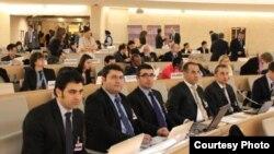 وفد المركز الكردي للدراسات والاستشارات القانونية (ياسا) المشارك في أعمال المنتدى الدولي للأقليات بجنيف.