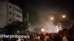 انفجار و آتشسوزی در یک فروشگاه بزرگ در خیابان نصر شیراز