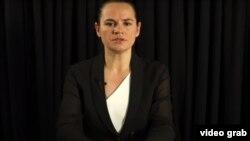 Բելառուսի նախագահի նախկին թեկնածու Սվետլանա Տիխանովսկայա, 19-ը օգոստոսի, 2020թ.