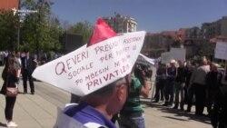 Protestë e punëtorëve të KEDS-it