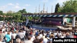 26 майда Истанбулның Фатиһ бистәсендә Башкортстан Сабан туе узды