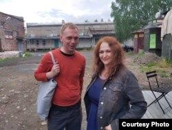 Наталья Ермолина и Иван Голунов на Баркемпе в Карелии, 2021