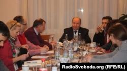 Зустріч української громади з послом України в Чехії Борисом Зайчуком, 20 січня 2015 року