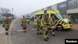 Фотографија од обезбедениот центар во Холандија каде се случила есплозијата