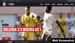 The website of Portuguese soccer club Uniao de Leiria
