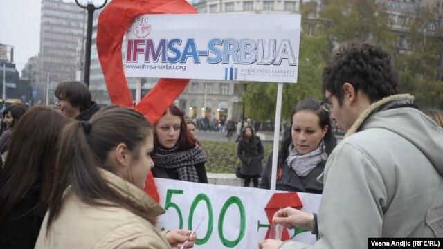Obeležavanje Svetskog dana borbe protiv side, Beograd, 30.novembar 2012.