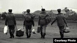 Российские солдаты в Грозном. 1995 год.
