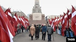 Мероприятие памяти латышских легионеров. Рига, 16 марта 2007 года