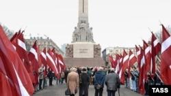 Церемония памяти латышских легионеров