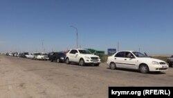 Около пограничного КПП «Чонгар»