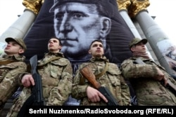 Акция в годовщину смерти Романа Шушкевича в Киеве, март 2017