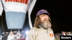 Russian adventurer Fyodor Konyukhov before beginning his record-breaking solo trip around the world in a hot-air balloon in July.